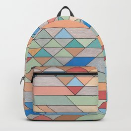 Triangle Pattern no.2 Colorful Backpack