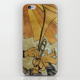 The trumpeter from below iPhone Skin