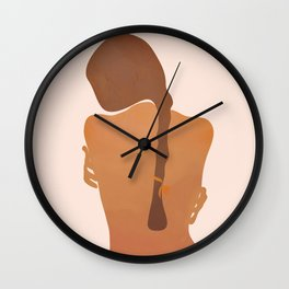 Minimal Female Figure Wall Clock