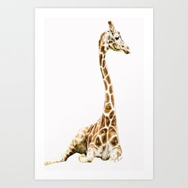 Giraffe iPhone Art Print