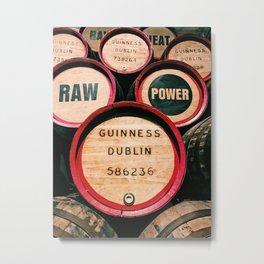 Guinness Barrels Metal Print