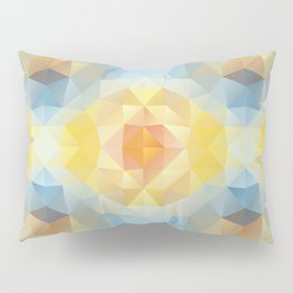 Kaleidoscopic design in soft colors Pillow Sham