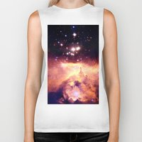 nebula Biker Tanks featuring nebUla : Warm Scorpius by Galaxy Dreams