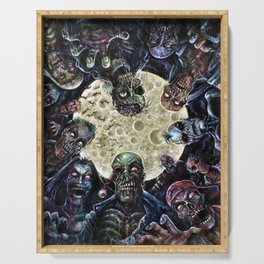 Zombies attack (zombie circle horde) Serving Tray
