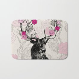 The Stag and Roses Bath Mat