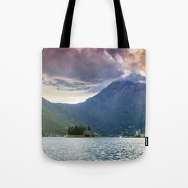 Sunset over Bay of Kotor Tote Bag
