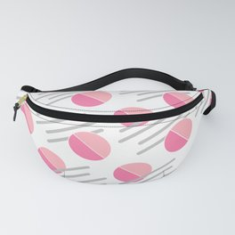 Modern Pink Circle Line Abstract Fanny Pack