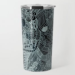 The Underbrush Black and White Travel Mug