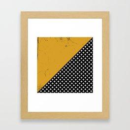 Swiss crosses (grunge) Framed Art Print