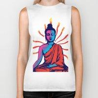 buddha Biker Tanks featuring Buddha by famenxt