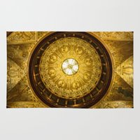 college Area & Throw Rugs featuring Flagler College by MucklowArt