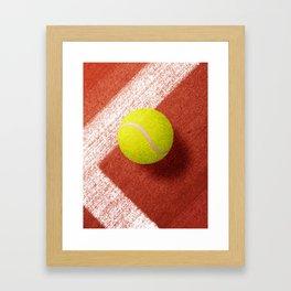 BALLS / Tennis (Clay Court) Framed Art Print