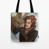 dungeons and dragons Tote Bags featuring Dragons and Direction: Harry by invisibleinnocence