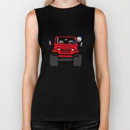 Jeep Wave Boy - Red Biker Tank