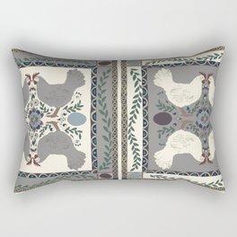 Folk Chicken Rectangular Pillow