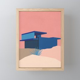 Kaufmann Desert House Blue - Rosé Framed Mini Art Print