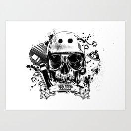 SkullAndCrossbones Art Print