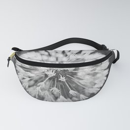 Black and white dandelion Fanny Pack