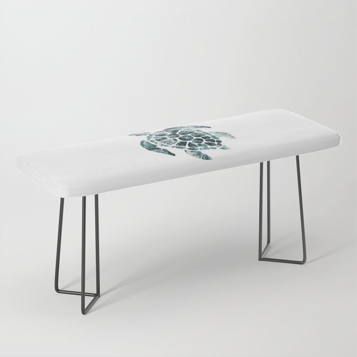 Sea Turtle - Turquoise Ocean Waves Bench