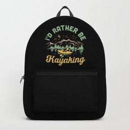 I'd Rather Be Kayaking Backpack