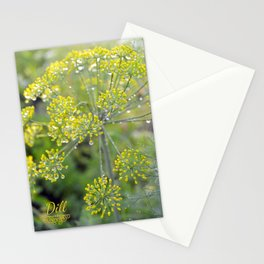 Dill in the garden I Stationery Cards