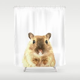 Hamster Portrait Shower Curtain