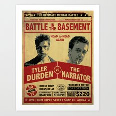 Fight Club Fight Poster Art Print