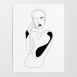 Lined pose Poster