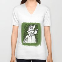 maleficent V-neck T-shirts featuring Maleficent by carotoki art and love