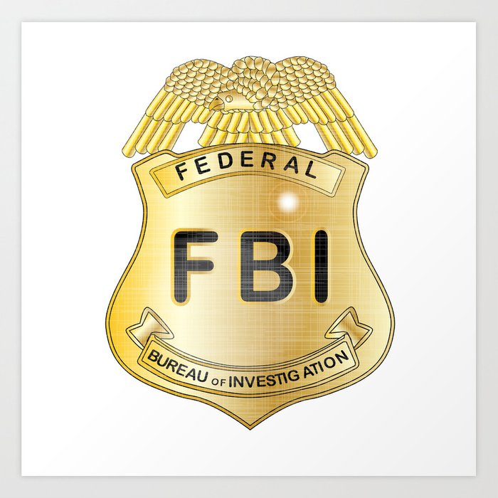 Fbi Badge Art Print By Homestead Society6 The seal of the federal bureau of investigation is the symbol of the fbi. fbi badge art print by homestead