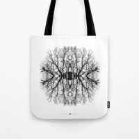 scary Tote Bags featuring Scary trees are scary by Pietro Bellini
