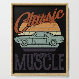 FUNNY MUSCLE CAR QUOTES Tuning Gift Classic Car Serving Tray