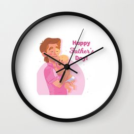 Happy Fathers Day Wall Clock