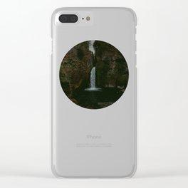 Wahclella Falls x Oregon Waterfall Clear iPhone Case