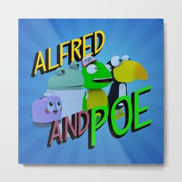 Alfred and Poe! Metal Print