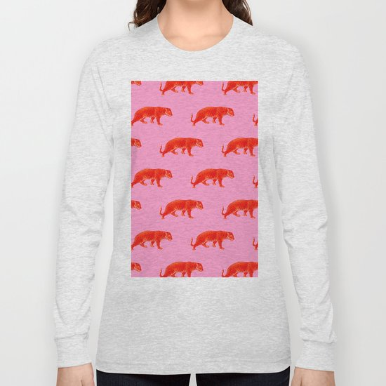 Vintage Cheetahs in Coral + Red by elliottdesignfactory