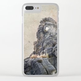 Externsteine top of the rock Clear iPhone Case