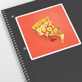 Pepperoni Pizza Lettering Sticker