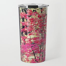 Red in the forest Travel Mug