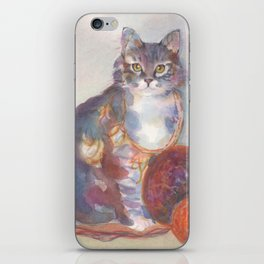 Purling Puss iPhone Skin