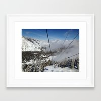 skiing Framed Art Prints featuring Skiing by Bryden McDonald