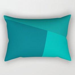 dégradé trapèze turquoise Rectangular Pillow