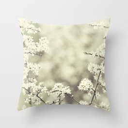 hedge blossoms Throw Pillow