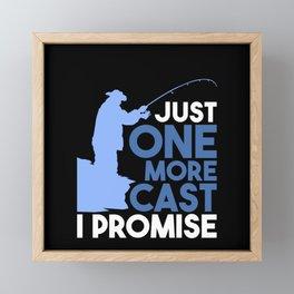 Fishing - Just One More Cast Framed Mini Art Print