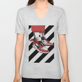 Jordan I Off White Art Unisex V-Neck