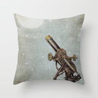 moonrise Throw Pillows featuring Moonrise by Eric Fan
