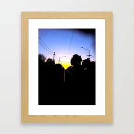 Tram Tracks Framed Art Print