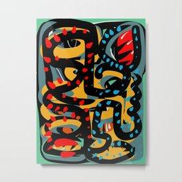 Energy Flow Abstract Art Life Metal Print
