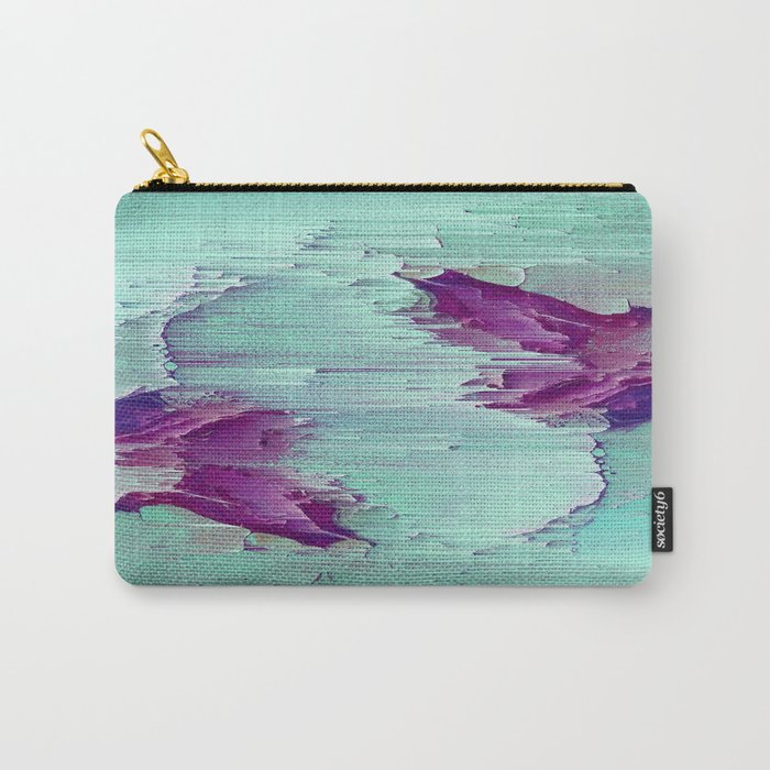 Marble Glitch Carry-All Pouch