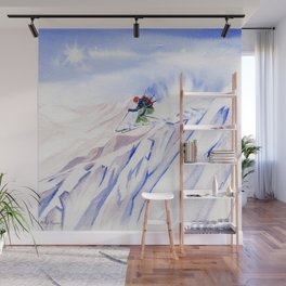 Powder Skiing Wall Mural